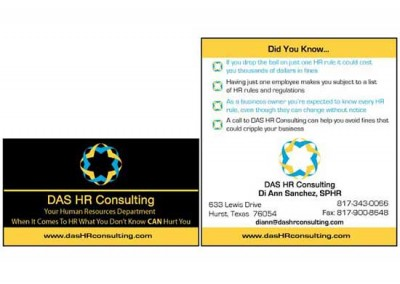 Marketing Materials: DAS HR Consulting