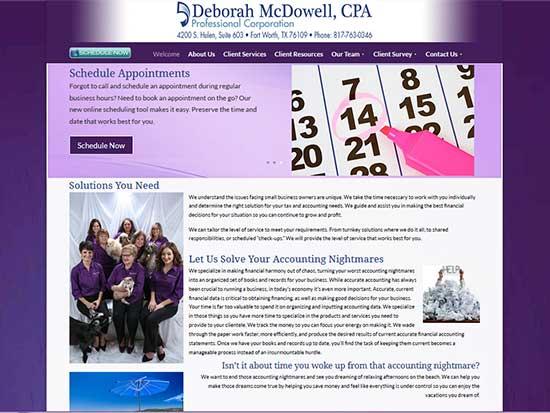 WordPress Website:   Deborah McDowell CPA
