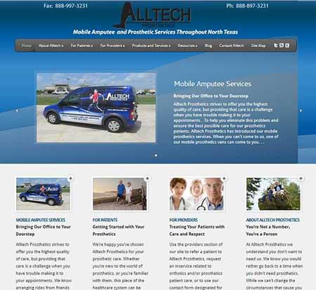 WordPress Website:  Alltech Prosthetics