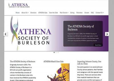 WordPress Website:  ATHENA Society of Burleson