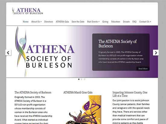 WordPress Website:  ATHENA Society of Burleson