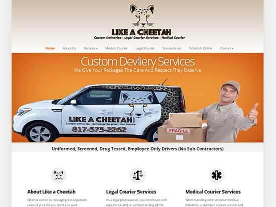 WordPress Website:  Like a Cheetah