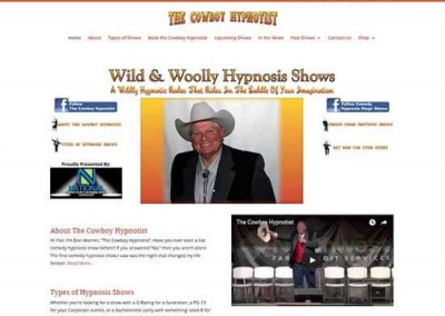 WordPress Website:  The Cowboy Hypnotist