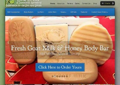 WordPress Website:  Dew Drops Soap