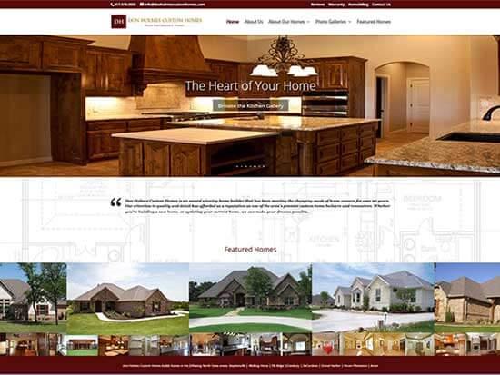WordPress Website:  Don Holmes Custom Homes