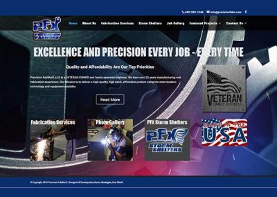 WordPress Website:  Precision Fabworx