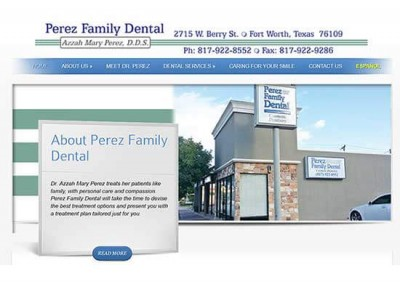 WordPress Website:  Perez Family Dental