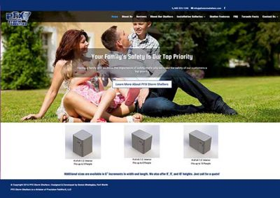 WordPress Website:  PFX Storm Shelters