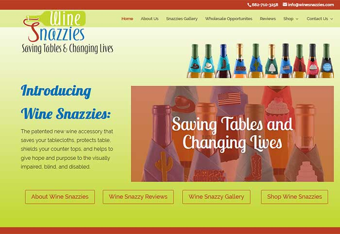 Colorado Springs wordpress websites wine snazzies