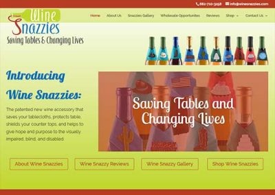 WordPress Website:  Wine Snazzies