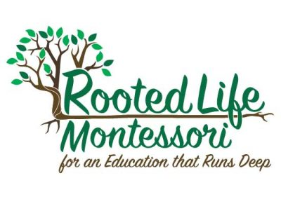 Logo Design & Branding:   Rooted Life Montessori