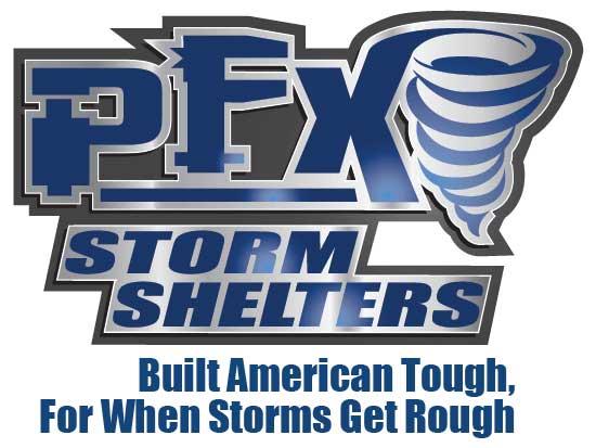 Logo Design & Branding:   PFX Storm Shelters