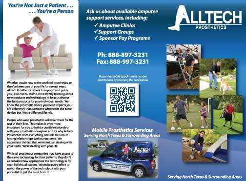 Marketing Materials:  Alltech Prosthetics