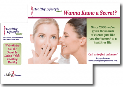 Marketing Materials:  Healthy Lifestyle Secrets Postcards